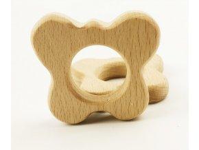 Dřevěné kousátko 60mm (1ks) - motýl