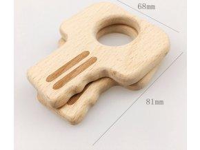 Dřevěné kousátko 80mm (1ks) - klíč