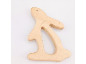 Dřevěné kousátko 80mm (1ks) - zajíček