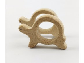 Dřevěné kousátko 80mm (1ks) - želva