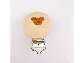 Klip na dudlík dřevěný (1ks) - MickeyMouse