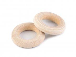 Dřevěný kroužek 24mm (vnitřní 12mm) (10ks)