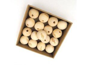 Dřevěné korálky OE20mm (2ks) - houslový klíč