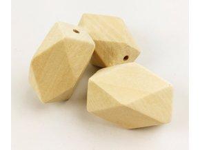 Dřevěné korálky 15x22mm (2ks)