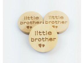 Dřevěné korálky disk 20mm (1ks) - LITTLE BROTHER