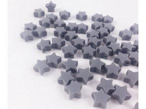 Silikonové hvězdičky 12mm (2ks) - grey