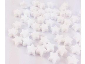 Silikonové hvězdičky 12mm (2ks) - white