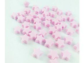 Silikonové hvězdičky 12mm (2ks) - pink