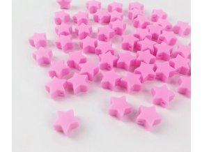 Silikonové hvězdičky 12mm (2ks) - hot pink