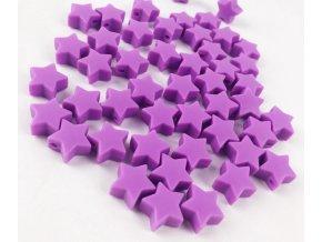 Silikonové hvězdičky 12mm (2ks) - purple