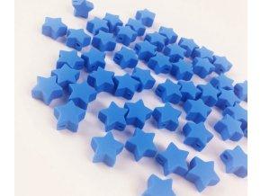 Silikonové hvězdičky 12mm (2ks) - blue