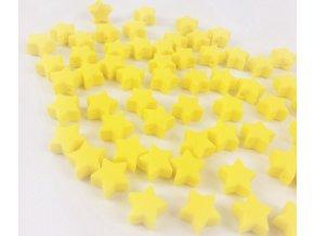 Silikonové hvězdičky 12mm (2ks) - yellow