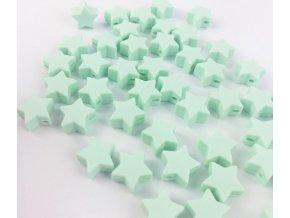 Silikonové hvězdičky 12mm (2ks) - mint