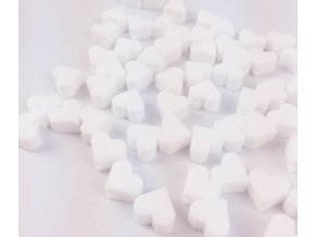 Silikonové srdíčko 14mm (2ks) - bílá