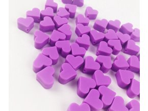 Silikonové srdíčko 14mm (2ks) - fialová