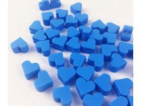 Silikonové srdíčko 14mm (2ks) - modrá