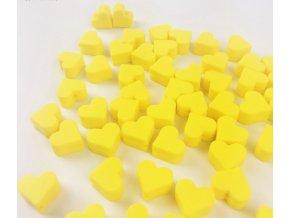 Silikonové srdíčko 14mm (2ks) - žlutá