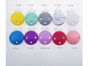 Klip na dudlík silikonový 3cm (1ks) - purple