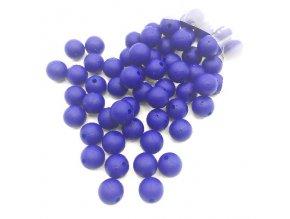Silikonové korálky 15mm (10ks) - modrá