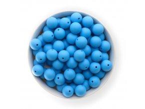 Silikonové korálky 15mm (10ks) - sv.modrá