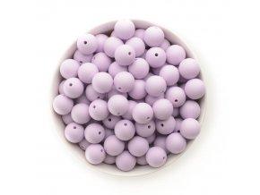 Silikonové korálky 15mm (10ks) - sv.fialová