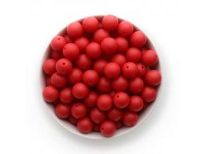 Silikonové korálky 15mm (10ks) - červená