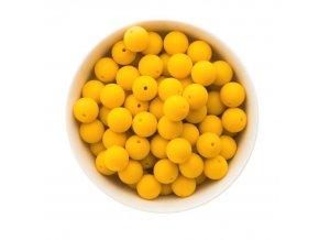 Silikonové korálky 15mm (10ks) - žlutá