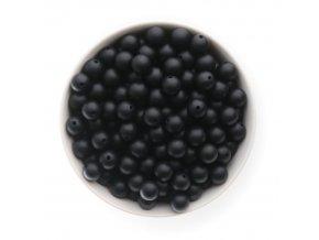 Silikonové korálky 12mm (10ks) - černá