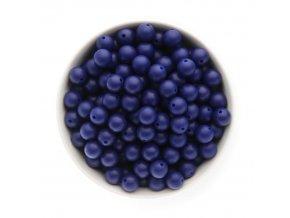 Silikonové korálky 12mm (10ks) - modrá