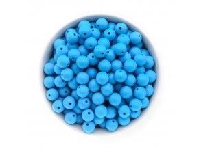 Silikonové korálky 12mm (10ks) - sv.modrá