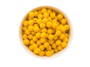 Silikonové korálky 12mm (10ks) - žlutá