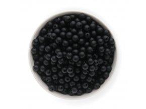 Silikonové korálky 10mm (10ks) - černá