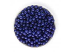 Silikonové korálky 10mm (10ks) - modrá