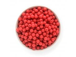 Silikonové korálky 10mm (10ks) - červená