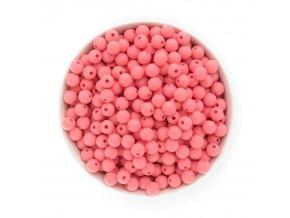 Silikonové korálky 10mm (10ks) - sv.růžová