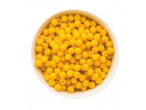 Silikonové korálky 10mm (10ks) - žlutá