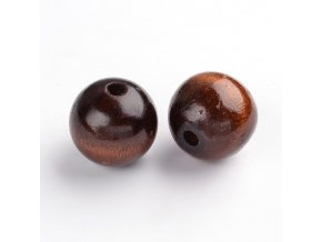 Dřevěné korálky pr.25mm (4ks) - Deep coffee