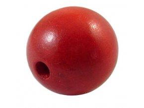 Dřevěné korálky pr.25mm (4ks) - Red