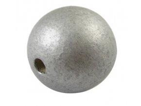 Dřevěné korálky pr.25mm (4ks) - Silver