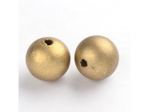 Dřevěné korálky pr.25mm (4ks) - Gold