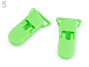 Klip na dudlík 20mm (2ks) - zelená pastelová