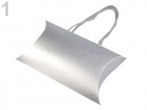 Dárková krabička 12x18 cm - stříbrná
