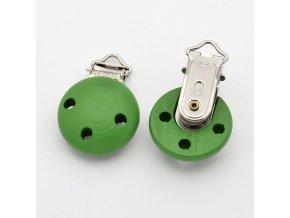 Klip na dudlík 28x28mm (1ks) - zelená