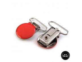 Klip na dudlík 25mm červená