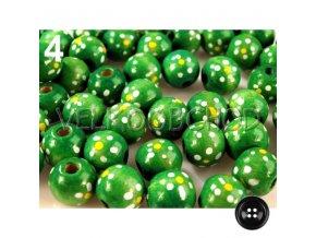 Dřev.korálky malované pr.16mm (10ks) - zelená