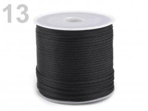 Saténová šňůra pr.1mm (10m) - černá