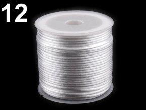 Saténová šňůra pr.1mm (10m) - bílá