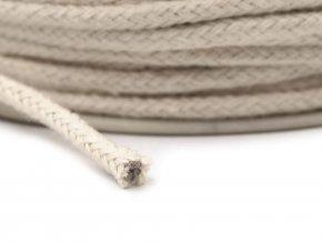 Bavlněná šňůrka/knot pr.3mm (10m) - režná světlá