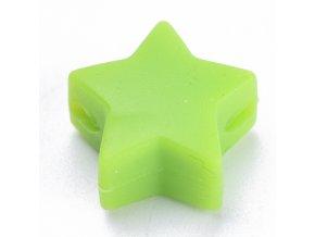 Silikonové hvězdičky 12mm (2ks) - green