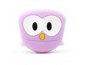 Kousátko silikonové SOVIČKA 3cm (1ks) - purple